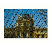 When Old meets New - the Louvre Art Print