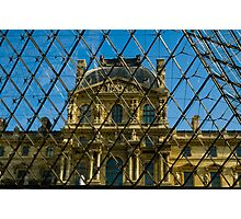 When Old meets New - the Louvre Photographic Print