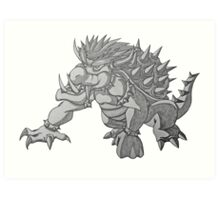 Super Saiyan Bowser Art Print