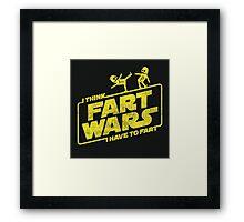 Fart Wars Framed Print