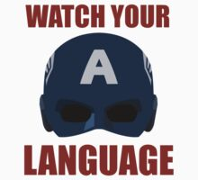 Captain America wants you to watch your language by CrumpetKing