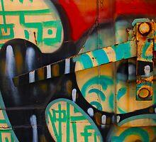 Train Lever with grafitti by socalgirl
