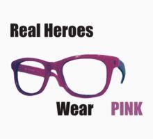 Real Heroes Wear Pink Baby Tee