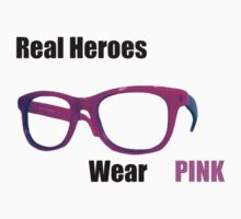 Real Heroes Wear Pink One Piece - Short Sleeve