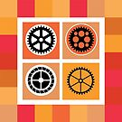 Gear of different color by Alexzel