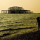 Brighton Pier Ruins by Mark Elshout