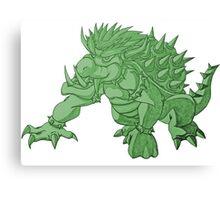 Super Saiyan Bowser (Green Tint) Canvas Print