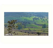 The Hills Are Green Art Print