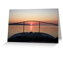 Fisherman's Sunrise Greeting Card