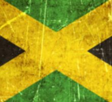 Vintage Aged and Scratched Jamaican Flag Sticker