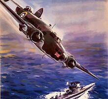 Lockheed HUDSON WW2 Reproduction Propaganda Poster World War 2  by verypeculiar