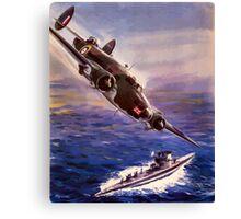Lockheed HUDSON WW2 Reproduction Propaganda Poster World War 2  Canvas Print