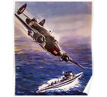 Lockheed HUDSON WW2 Reproduction Propaganda Poster World War 2  Poster