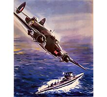 Lockheed HUDSON WW2 Reproduction Propaganda Poster World War 2  Photographic Print