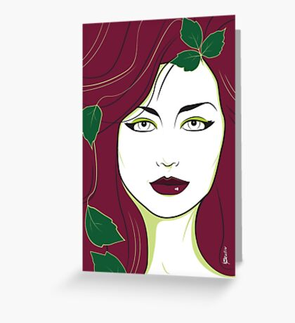 Poison Ivy - Nagel Style Greeting Card