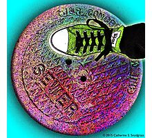 Sewer Foot Photographic Print