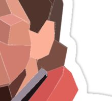 Marty Mcfly Polygons Sticker