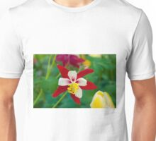 Red White Columbine Unisex T-Shirt