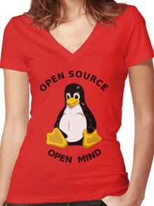 Open Source Open Mind Women's Fitted V-Neck T-Shirt