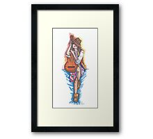 girl with a guitar Framed Print