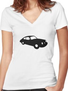 911 Porsche vintage car for speed race furious  fast Women's Fitted V-Neck T-Shirt