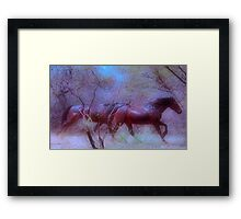 """For Dawn - Special request on """"My Horse Fantasy"""" Framed Print"""