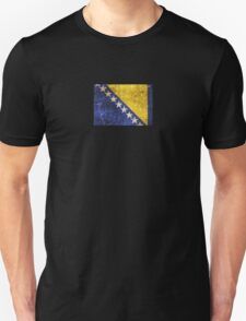 Vintage Aged and Scratched Bosnia Herzegovina Flag T-Shirt