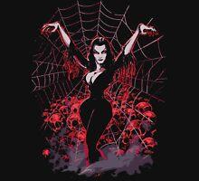 Vampira Spider web gothic Unisex T-Shirt