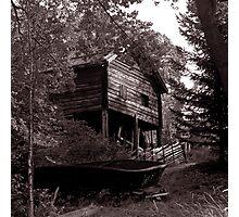 Boatshed, Sweden Photographic Print