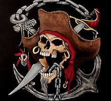 Pirate Skull by Paul Wolff