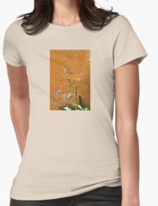TULIP BUD on a stucko wall Womens Fitted T-Shirt