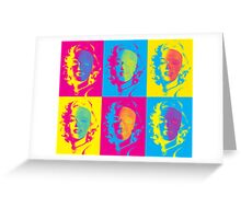 Marilyn's Pop Death in Cyan, Yellow and Magenta Greeting Card
