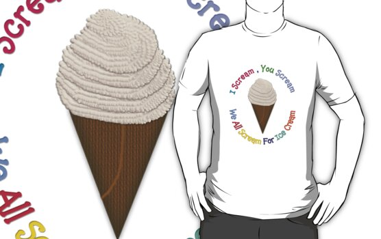 I Scream You Scream, We All Scream For Ice Cream - CREAM by Linda Allan