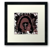 Splattered Fuzz: Morbid Beauty Framed Print
