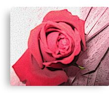 Abstract Red Rose  Canvas Print