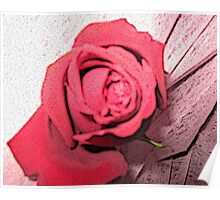 Abstract Red Rose  Poster
