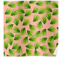 Tropical Exotic Hawaiian Palm Fronds Poster