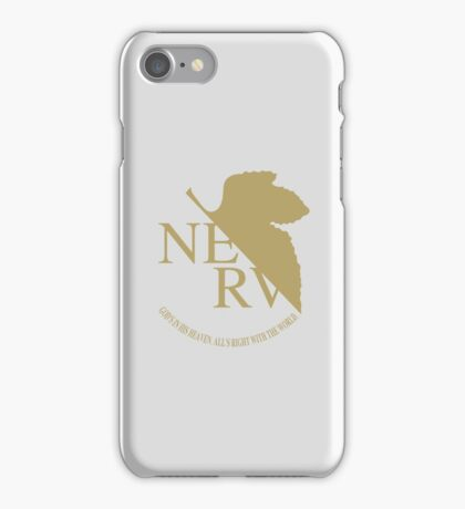 Evangelion Nerv Logo Classy Gold iPhone Case/Skin