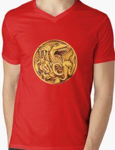 Mighty Morphin Power Rangers Megazord Coin Mens V-Neck T-Shirt