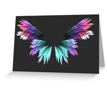Angel colored wings Greeting Card
