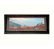 window to the rooftops Art Print
