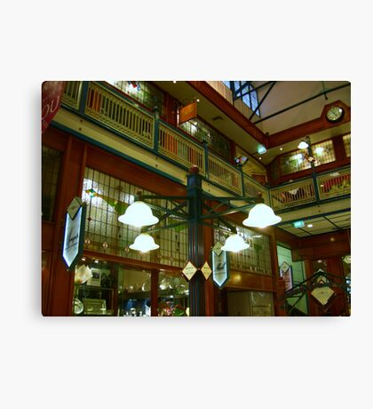Lights in Arcade Canvas Print