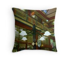 Lights in Arcade Throw Pillow