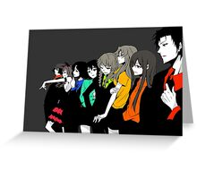 Steins gate characters anime shirt Greeting Card