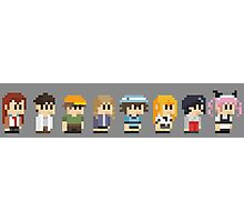 Steins gate anime characters Photographic Print
