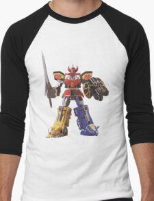 Mighty Morphin Power Rangers Megazord Men's Baseball ¾ T-Shirt