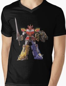 Mighty Morphin Power Rangers Megazord Mens V-Neck T-Shirt