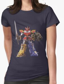Mighty Morphin Power Rangers Megazord Womens Fitted T-Shirt