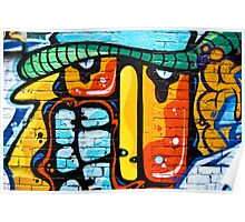 Abstract graffiti on the brick wall Poster