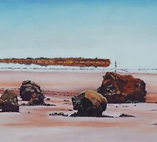 Mirage on Lake Ballard,Menzies Western Australia by robynart